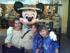 With Mickey in DisneyWorld