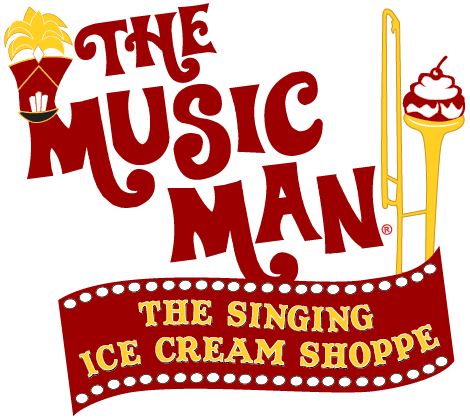The Music Man Singing Ice Cream Shoppe Logo